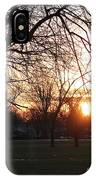 Fall Sunset Tree Silhouettes IPhone Case