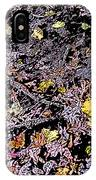 Fallen Autumn Leaves Among The Roots IPhone Case