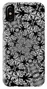 Fallen Leaves Black And White Kaleidoscope IPhone Case