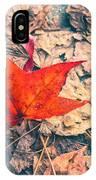 Fallen Red Leaf IPhone Case