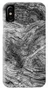 Fallen Tree Bark Bw IPhone Case