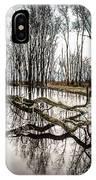 Fallen Tree Reflection IPhone Case