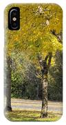 Falling Leaves From Neighborhood Beech Trees IPhone Case