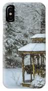 Falling Snow - Winter Landscape IPhone Case