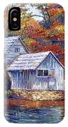 Falling Water Mill House IPhone Case
