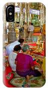 Families Awaiting Teaching From A Monk At Wat Tha Sung Temple In Uthaithani-thailand IPhone Case