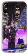 Family At Detroit Ice Rink   IPhone Case