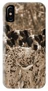 Family Portrait Before The Hunt-featured Picture In Large Dogs Only Group IPhone Case