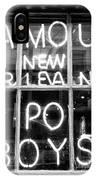 Famous New Orleans Po Boys Mono IPhone Case