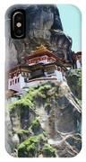 Famous Tigers Nest Monastery Of Bhutan 7 IPhone Case