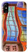 Fanciful Wavy House Painting IPhone Case