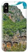 Fancy Tomb Carvings At The Top In Daylan-turkey IPhone Case