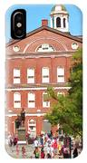Faneuil Hall  Cradle Of Liberty IPhone Case