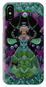 Fantasy Cat Fairy Lady On A Date With Yoda. IPhone Case