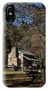 Farm Cabin Cades Cove Tennessee IPhone Case