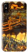 Farm Pond Reflections IPhone Case
