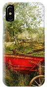 Farm - Tool - A Rusty Old Wagon IPhone Case