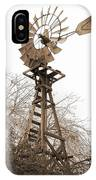 Farm Windmill In Sepia IPhone Case