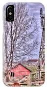 Farm - Windmill - Red Barn Farm - Missouri IPhone Case