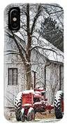 Farmall Tractor In Winter IPhone Case