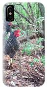 Farmyard Life With The Hens IPhone Case