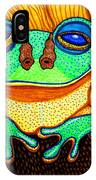 Fat Green Frog On A Sunflower IPhone Case