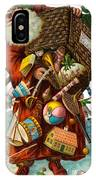 Father Christmas With Presents IPhone Case