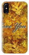 Father's Day Greeting Card Iv IPhone Case