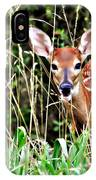 Fawn In The Grass IPhone Case