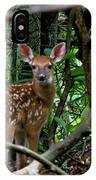 Fawn In The Woods IPhone Case