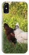 Feeding Chickens IPhone Case