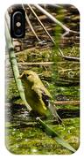 Female Gold Finch Drinking IPhone Case