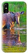 Female Moose Near Airport In Chicken-alaska   IPhone Case