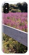 Fence And Purple Wild Flowers IPhone Case