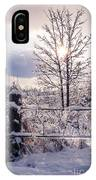 Fence And Tree Frozen In Ice IPhone X Case