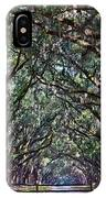 Fence And Wormsloe In Savannah  IPhone Case