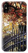 Fence At Woodlawn Cemetery IPhone Case