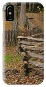Fence In Autumn IPhone Case