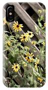 Fence Lined Wildflowers IPhone Case