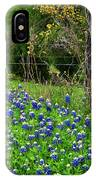 Fenced In Bluebonnets IPhone X Case