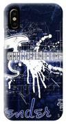 Fender Blueprint Washout IPhone Case