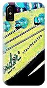 Fender Head In Watercolor Photo IPhone Case