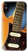 Fender Stratocaster Electric Guitar Natural IPhone Case