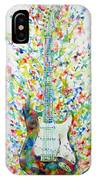 Fender Stratocaster - Watercolor Portrait IPhone Case