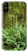 1a2912-ferns In Rain Forest Canada  IPhone Case