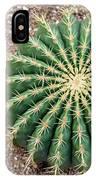 Ferocactus Histrix Cactus IPhone Case