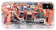 2012 Ferrari F 2012 Fernando Alonso Pit Stop IPhone Case