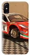 Ferrari F458 In Pit Area IPhone Case