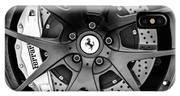 Ferrari Wheel Emblem - Brake Emblem -0430bw IPhone Case