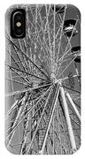 Ferris Wheel In Black And White IPhone Case